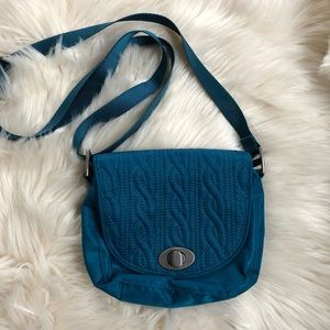 Baggallini small teal crossbody handbag purse